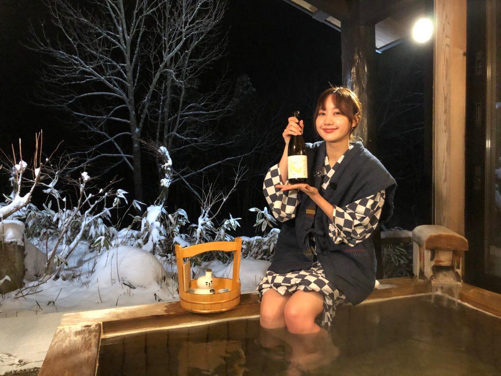高田秋雪見酒